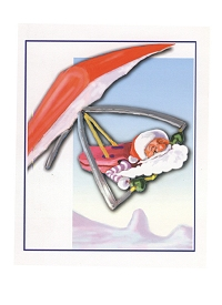 Hang Glider Christmas Cards pack of 5