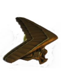 Hang Glider Lapel Stud - Bronze Hang Glider (5)