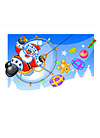 Paramotor Christmas Cards pack of 5